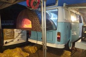 vintage VW camper van wood fired oven