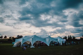Capri marquees linked together