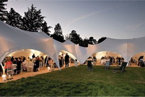 Capri marquees linked for a wedding