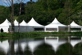 Pagoda marquees lake vineyard wedding venue
