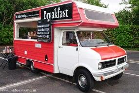 Breakfast from a vintage van