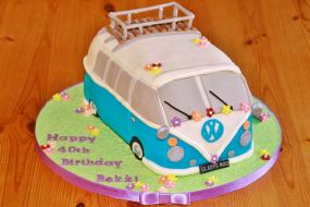 Camper Van Birthday Cake