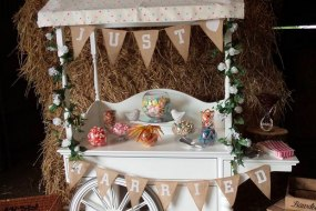 Barn wedding themed cart