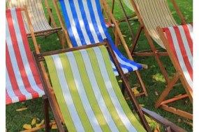 Stripy deckchairs