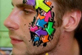 Neon UV Festival Eye Design by London Face Painter Happy Canvas