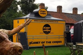 Planet of the Crepes mobile catering van at woodfest event hatfield forest Essex.