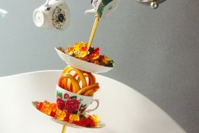 Mad hatter tea party candy cart