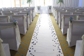 Ceremony set up at Bowood House, Chippenham