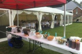 Summer wedding set up