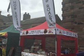 Food festival set up