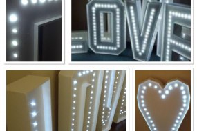 Giant 4ft Light Up Love Letters & Heart Hire