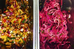 Roasted pineapple Pico de Gallo and limed onion