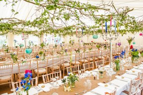 Leafy canopy in vintage style marquee