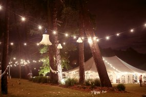 Traditional style marquee at night