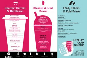 Our extensive hot and cold beverage menu
