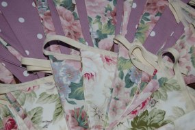 Beautiful handmade vintage style bunting for weddings, parties and celebrations.