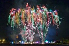 Professional fireworks display Worcester and national wedding fireworks
