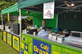 The full set up, Cafe Brazil and BBQ Brazil