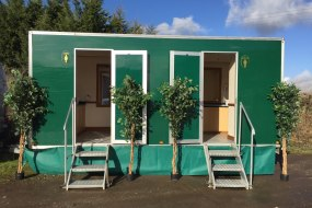 External view of the 2+1 Luxury toilet trailer