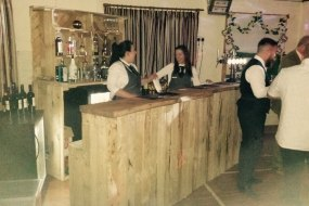 Rustic bar wedding