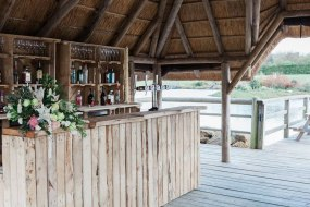 Our rustic bar at Kent Field Country Estate.