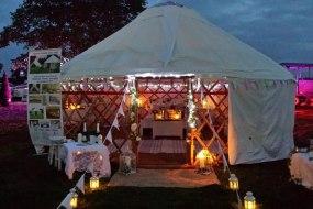 Yurt at night