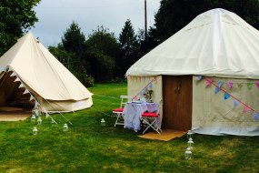 Yurt and bell tent garden party