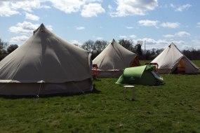 3 bell tent setup