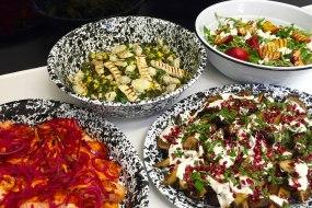 salad, healthy, buffet, lunch, dinner,