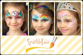 Sparkleface face painting princess, rainbow, unicorn