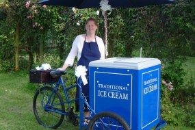 Vintage Pashley Tricycle serving award winning local Jersey dairy ice creams and sorbets