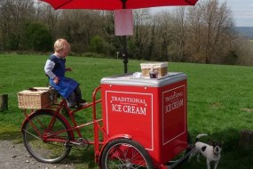 Red tricycle for Traditional Ice Cream