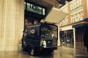 Mobile coffee van branding