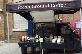 Mobile coffee van markets