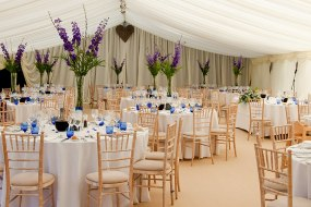 Wedding marquee interior