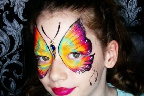 One Stroke Butterfly Face Paint by Geordie Face Painter