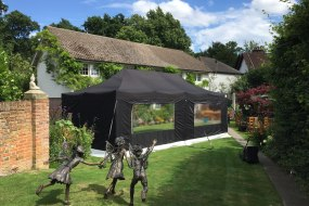8mx4m Black gazebo