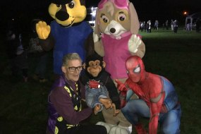 Jacko & Nunkie with their Heroes At the Polo Ground Firework Display