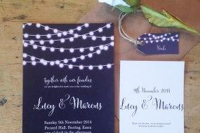 Nightgarden, wedding stationery range