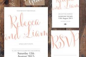 Calligraphy Script, wedding stationery range
