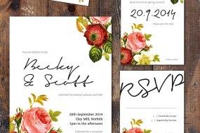 Vintage Floral, wedding stationery range