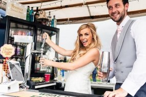 wedding bride groom mobile bar