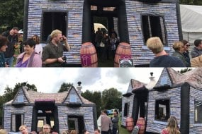 Inflatable pub at a food festival