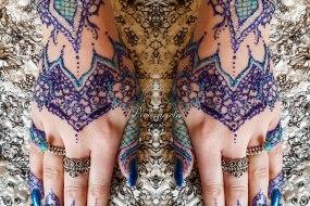 Glitter Henna Design