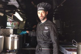 Our chef on the Vanstaurant