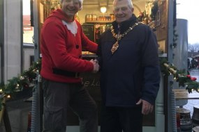 Founder with the local Mayor