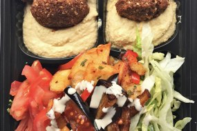 6 falafel salad Box, completely vegan and gluten free
