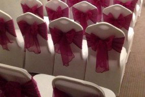 Chair covers and venue styling