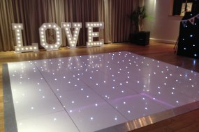 Star Lit Dance Floor & LOVE Letter Hire Staffordshire
