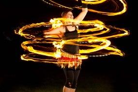 Three Fire Hula Hoops